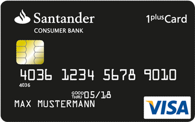 Santander 1plus Visa Card