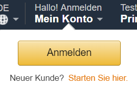 Amazon neues konto anlegen