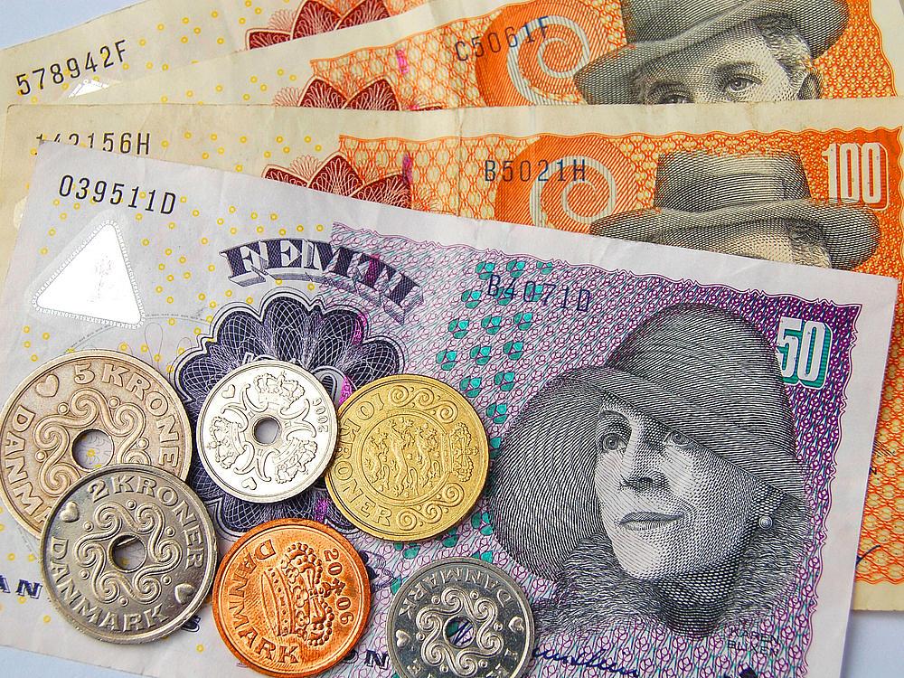 Dänisches Geld - Krone Geldscheine und Münzen