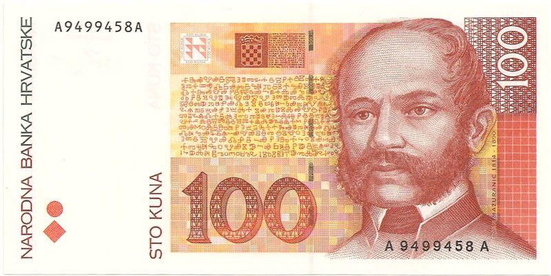 Kroatien Kuna Schein 100