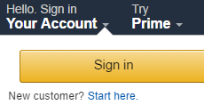 Amazon UK Sign In