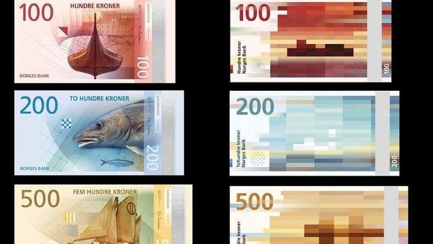 Norwegische Krone Scheine, Banknoten