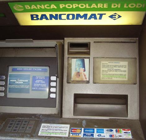 Geldautomat in Italien