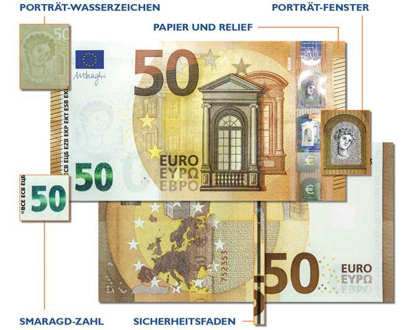 50 Euro Schein Sicherheitsmerkmale
